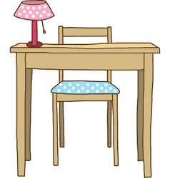 Working Table vector image