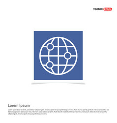 world globe icon - blue photo frame vector image