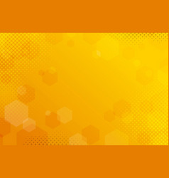 Yellow abstract halftone background vector