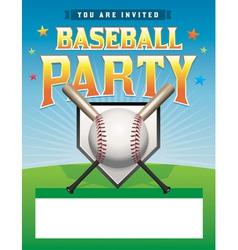 Baseball Party Flyer vector image vector image