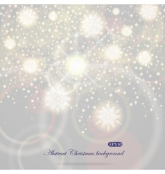 Christmas background with flying snowflakes vector image