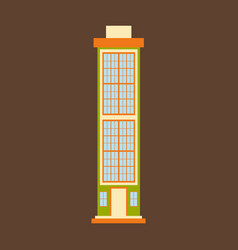 city skyscraper building urban design element vector image