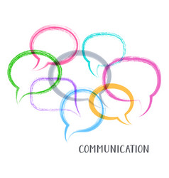 communication concept vector image vector image