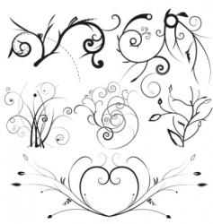 floral design elements vector image vector image