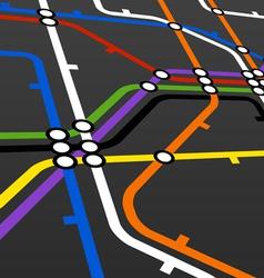 metro scheme on black vector image