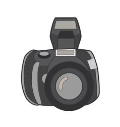 Symbol photo camera Icon for web site Line art vector image