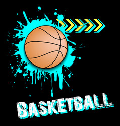 Background abstract basketball ball from blots vector