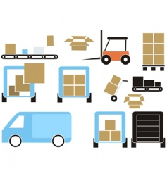 cargo elements vector image vector image