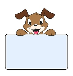 Cartoon Banner Dog vector image vector image