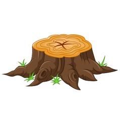 Cartoon tree stump vector image vector image