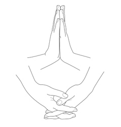Hands folded in prayer vector image