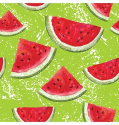 pattern with watermelon vector image