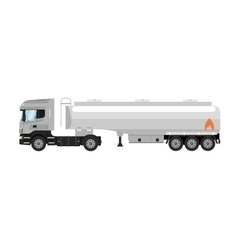 Tank truck isolated on white background vector image vector image
