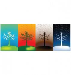 abstract seasons vector image vector image
