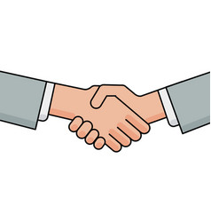 business handshake greeting and agreement sign vector image