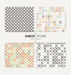 cross stitch seamless pattern set vector image vector image