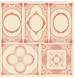 Frames set for cards with floral details vector image vector image