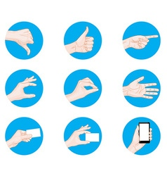 business hand gestures icon vector image vector image
