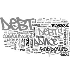 it s free and to your benefit debt advice text vector image vector image