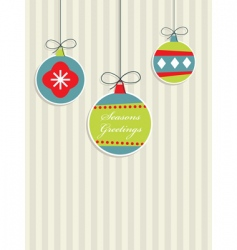 red blue and green Christmas vector image vector image