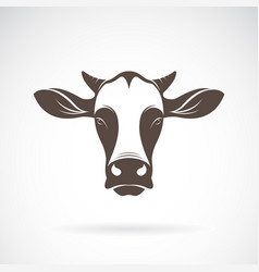 a cow head design on white background farm animal vector image