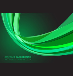 abstract green glass curve light design modern vector image