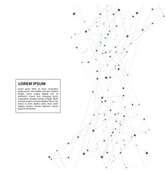 abstract polygonal with connecting dots and lines vector image