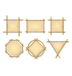 bamboo frames chinese wooden stick signs vector image