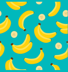 banana background yellow banana pattern vector image