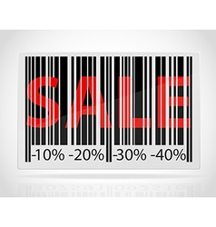 Barcode sale vector