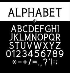 black strict serif font vector image