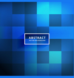 Blue tiles shiny background design vector