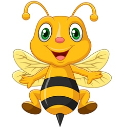 Cartoon adorable bee vector