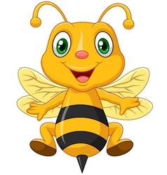 Cartoon adorable bee vector image