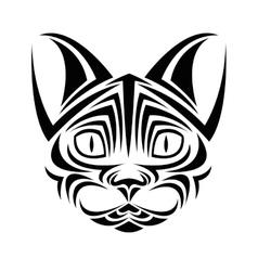 Cat tattoo animal design vector