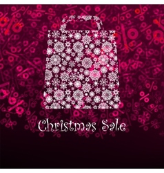 Christmas sae card with shopping bag EPS 8 vector image