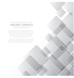 Clean abstract gray background with square shapes vector