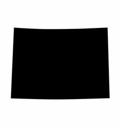 Colorado state silhouette map vector
