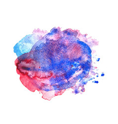 Colorful watercolor stain vector