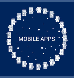 Creative mobile apps icon background vector