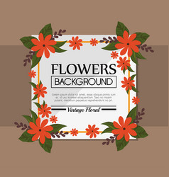 Cute flower frame decorative background vector