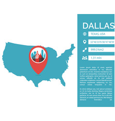 dallas map infographic vector image