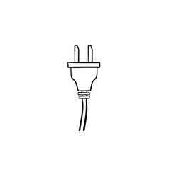 electric plug hand drawn sketch icon vector image