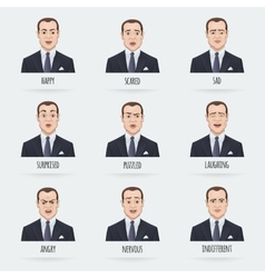 Emotions of a Businessman vector