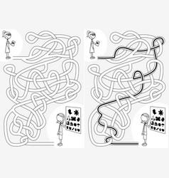 eye doctor maze vector image