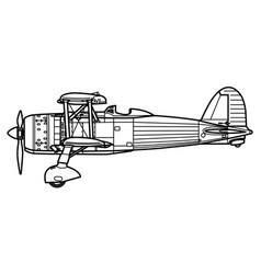 fiat cr42 falco vector image