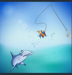 fishing 01 vector image