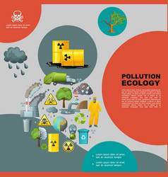 flat nature pollution template vector image