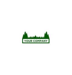 forest logo design pine logo design vector image