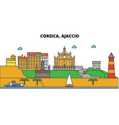 France ajaccio corsica city skyline vector